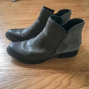Born Keefe Grey Booties size 9.5